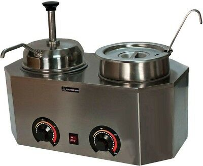 One Pump And One Ladle/Vegetable Insert Pro-Style Ladle Pump Warmer