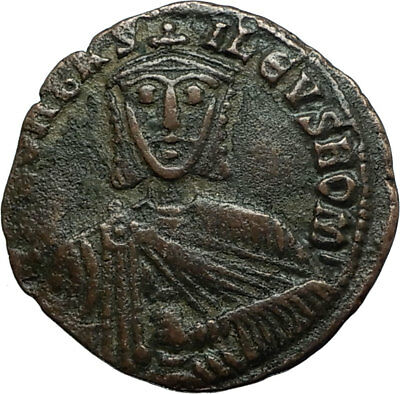 LEO VI the WISE 886AD Constantinople Follis Medieval Byzantine Coin i66229