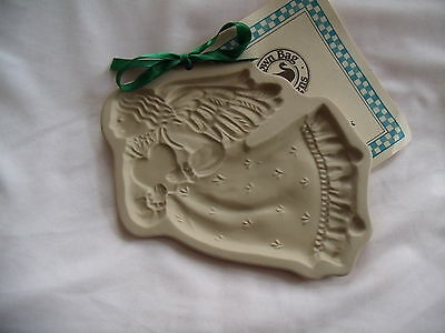 Brown Bag Cookie Art 1987 Winged Angel Holding  Heart New With Recipe Book