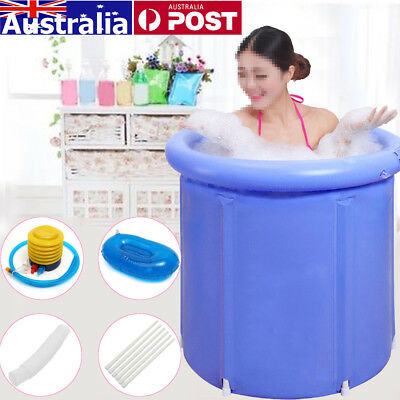 AU Folding Bathtub Portable PVC Foldable Water Place Tub Room Spa Massage Bath