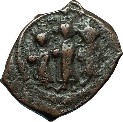 HERACLIUS & MARTINA w Son H Constantine 610AD Ancient Byzantine Coin i66243