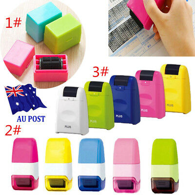 3 Size Guard Your ID Roller Stamp SelfInking Stamp Messy Code Security Office SN