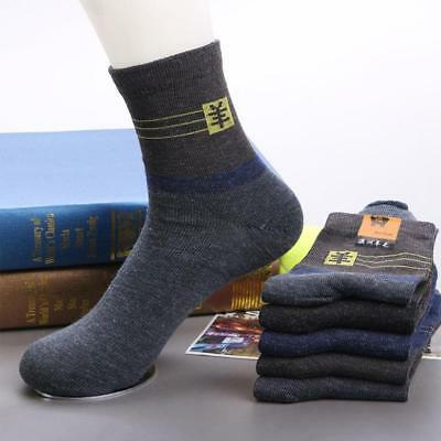 5 Pairs Mens Thick Thermal Wool Cashmere Casual Sports Winter Warmer Dress Socks