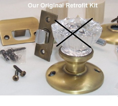 Our Original Retrofit Kit to INSTALL YOUR ANTIQUE KNOBS in MODERN DOORS Doors, a