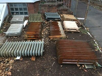Antique steam/water radiators old cast iron - 9 available