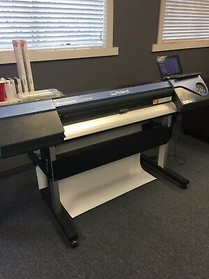 Roland Versacamm VS 420 Printer Cutter with computer inks and banner material