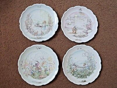 Set of 4 Royal Doulton Wind in the Willows Plates by Christina Thwaites (74)