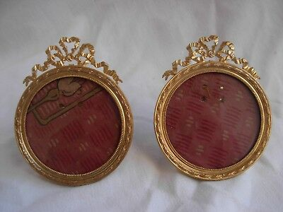PAIR OF ANTIQUE FRENCH GILT BRONZE PHOTO FRAME,LATE 19th CENTURY.
