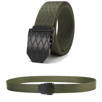 Nylon Canvas Breathable Military Tactical Men Waist Belt with Metal Buckle