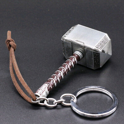 Keychain Creative Alloy Marvel The Avengers Thor Thor's Hammer Metal Keyring