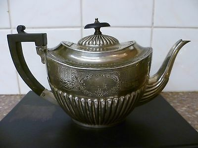 Very Ornate Antique Silver Plated Tea Pot. By 'g Wilson' Penrith.  Epns Tea Pot