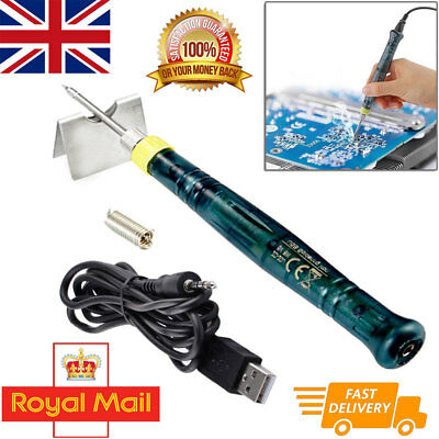 USB Soldering Iron Pen Mini Portable Electric Powered Gun Tip Touch Switch 5V 8W