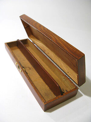 Antique Oak and Poplar Pencil Box with Lock