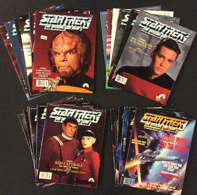 STAR TREK OFFICIAL FAN CLUB MAGAZINE Lot of 24 ORIGINAL SERIES Next Generation