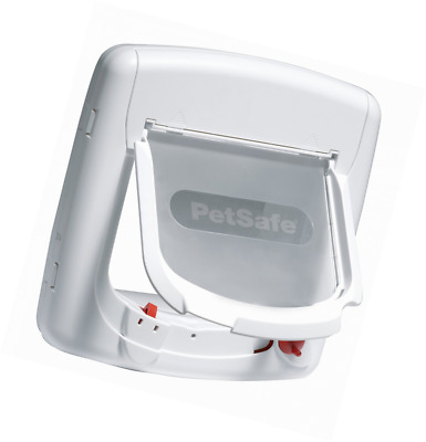 PetSafe White Staywell Deluxe Magnetic Pets Cat Flap Door, Pet Cats Accessory