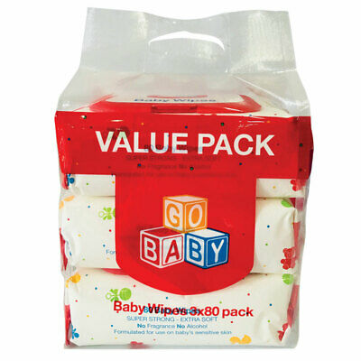Go Baby Wipes 3x80 Pack