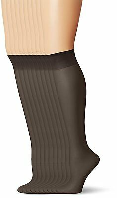 229007275488d LEGGS WOMENS EVERYDAY Knee Highs , Off Black, One Size, 10 Pair ...