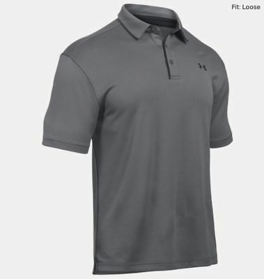 Under Armour Men's Tech Golf Polo Shirts - Current Season (Broad collar tipping)