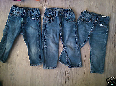Lot De 3 Jeans / Pantalons Fashion  H Et M  1,5 -   2 Ans