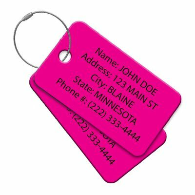 Multi Pack Customized Tavel Tag - Luggage Tag - Golf Bag ID - Personalized ID -