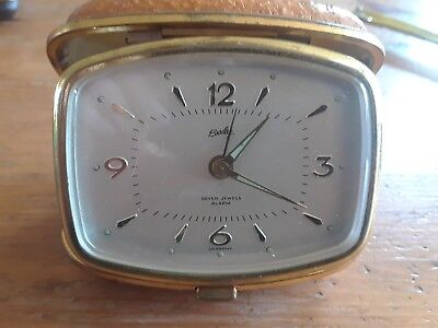 Vintage BRADLEY Folding Travel Alarm Clock in case