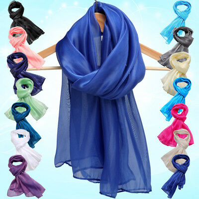 Silky Iridescent Chiffon Wrap Stole Shawl Bridal Bridesmaid Wedding Evening Wear
