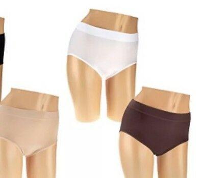 bf722b7ae71a NEW Breezies Set of 3 Seamless Full Brief Panties MOCHACHINO SET Size Large  QVC