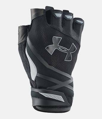Under Armour Men's UA Resistor Half Finger Workout Gloves Black 1/2 Finger