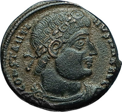 CONSTANTINE I the GREAT 330AD Authentic Ancient Roman Coin w SOLDIERS i66252