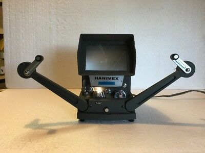 Vintage Hanimax E200 Dual 8mm Film Editor - Lights Up!