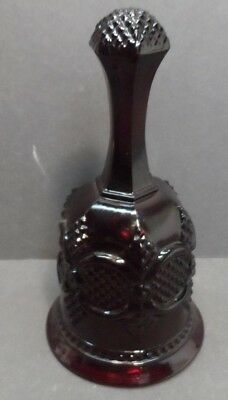 Avon 1876 CAPE COD Collection Ruby Red Glass Christmas Bell 1979