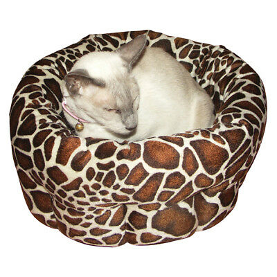 "Rosewood Animal Print Small Sleeper 15"" Cat Kitten Bed"