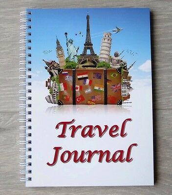 Travel Journal A5 Wire Bound Travel Diary for 60 Days of Travelling and Notes