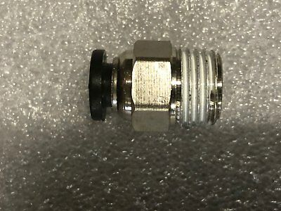 """10pcs 1/4"""" BSPT 6mm Fitting Pneumatic Air Connectors for PU Tube"""