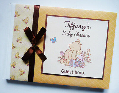 Classic Winnie The Pooh Baby Shower Guest Book (Unisex, Neutral) - Any Design
