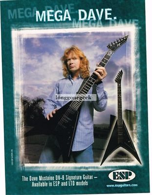 2003 ESP DV-8 Electric Guitar DAVE MUSTAINE Vtg Print Ad