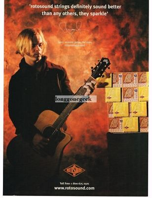 2003 ROTOSOUND Guitar Strings RYAN GRIFFITHS of The Vines Vtg Print Ad