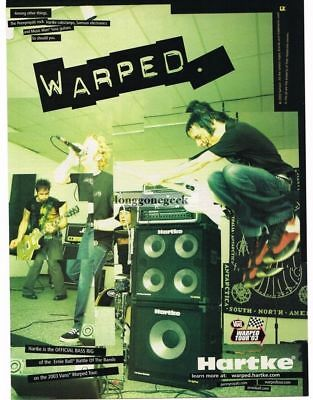 2003 HARTKE Amps & Cabs THE PENNYROYALS Vtg Print Ad