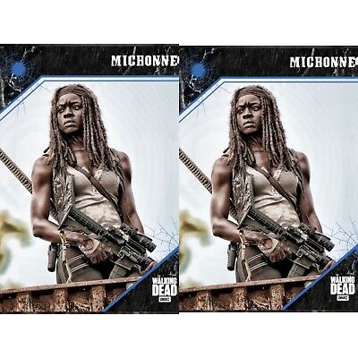 2x 2017 POINT OF IMPACT BLUE MICHONNE The Walking Dead Trader Digital Card