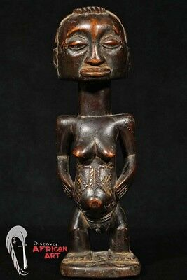 "Older Luba Figure with Great Patina 10.5"" - DR Congo - African Art"