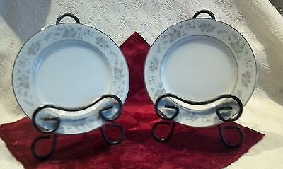 Set Of 2 Japan Carlton China Corsage Floral Dessert & Bread & Butter Plates 481