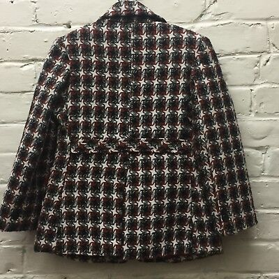 Vtg 6? Tweed Houndstooth Jacket Blazer Lined Korea EC