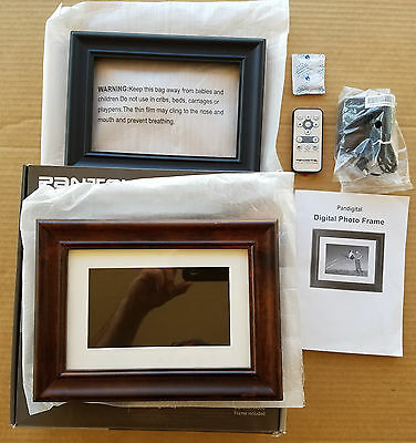 "Pandigital PAN7056W01T 7"" Digital Picture Frame - Interchangable Black & Brown"