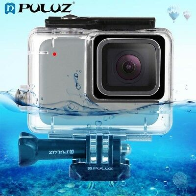 PULUZ 45m Underwater Waterproof Housing Diving Case for GoPro 7 Silver / White