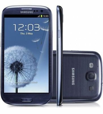 "4.8"" Samsung Galaxy S3 GT-I9300 16GB 8MP 3G Unlocked Smartphone - Pebble Blue"