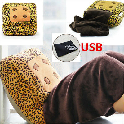 USB Electric Foot Warmer Shoes Heated Slippers -Reusable Heat Pack Handwarmer UK