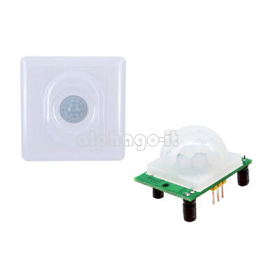 Infrared IR PIR Sensor Switch Module Body Motion Light Lamps Auto On Off SR501