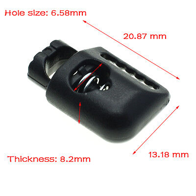 Plastic Cord Lock Stopper Toggle Cilp Black For Garment Accessories