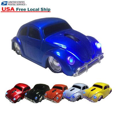3D Volkswagen VW Beetle Car 2.4Ghz Wireless USB Optical Mouse Mice for Laptop PC