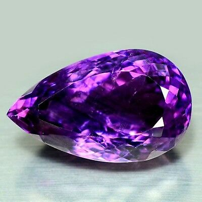 28.71 Ct Natural! Purple Clr Change To Pink Brazilian Amethyst Pear